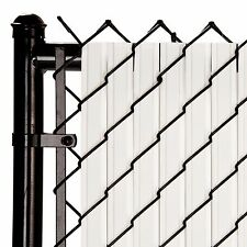 Chain Link White SoliTube™ Max-Privacy Slat For 6-ft Fence Bottom Lock