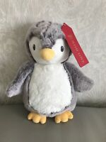 M&S Marks & and Spencer soft Penguin Soft Toy grey cuddly plush bird 05580880