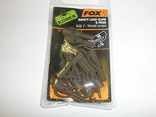 Fox Edges Safety Lead Clips and Pegs sz7 10pk Trans Khaki Carp fishing tackle