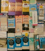 Lot of Vtg New Old Stock Hooks & Loops, Bias Tape, Sean Binding, Buttons & more