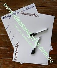 2x A4 Flexible Whiteboard Magnet Family Office Weekly Monthly Planner Organiser