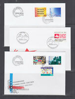 Switzerland Mi 1637/1671, 1998 issues, 8 complete sets on 8 official FDCs, VF