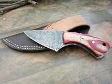 MH KNIVES CUSTOM HANDMADE  DAMASCUS STEEL FULL TANG HUNTING/SKINNER KNIFE 391V