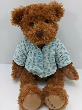 "Fao Schwartz Teddy Bear Brown 15"" Pajama Top 2015"