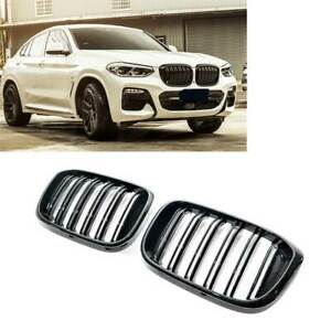 Gloss Black X3M X4M Style Front Bumper Bar Kidney Grille for BMW X3 G01 X4 G02