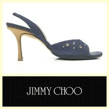 Jimmy Choo $595 blue denim slingback sandals~8/US