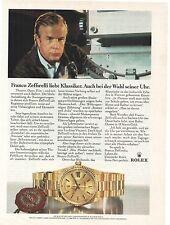 La pubblicità storica-Franco Zeffirelli-Rolex-DAY-DATE - vecchio annuncio