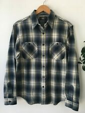 RRL Cody Ombre Shadow Plaid Shirt M Flannel Ralph Lauren