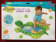 Earlyears TURTLE Fill 'n Fun DELUXE WATER MAT Great for Tummy Time XL 33x24 NEW