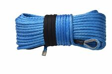 Blue 12mm×45m ATV Synthetic Rope,Boat  Winch Cable,Towing Rope for 4×4 Off Road
