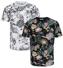 Only & Sons Solomon Floral Fashion T-Shirt Black White Pattern Slim Cotton Tee