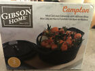 GIBSON HOME CAMPTON MINI CAST IRON CASSEROLE WITH WOODEN BASE 3 PIECE SET NEW!