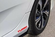 "(2) RED Turbo Honda Civic JDM 6""Wide, Decal Vinyl Sticker NO BUBBLES"
