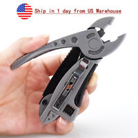 EDC Multi Tool Pliers Knife Jaw Screwdriver Wrench Survival Gear Foldable Travel