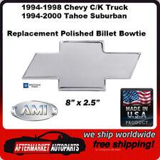 94-98 Chevy C/K Full Size Truck Polished Aluminum Bowtie Grille Emblem 96017P