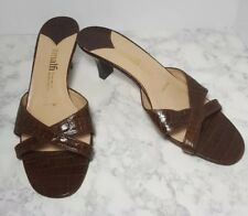 Amalfi for Nordstrom Classic Brown Sandal Pumps Low Heel Size 9 1/2 B