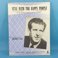 Benny Lee - Stay With The Happy People - Original Vintage Sheet Music 1950