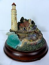 "Hawthorne "" The Light of Peace "" Lighted Lighthouse - Thomas Kinkade - Works"