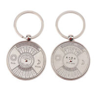 50 Year Perpetual Calendar Key Chain Antique Brass Nautical Vintage Style Gift*