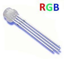 s581 - 10-pc del 5mm RGB 4 Pin diffus Tête courte tête plate selon cathode minus
