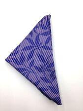 $125 Ryan Seacrest Men Floral Purple Cotton Handkerchief Pocket Square Hanky