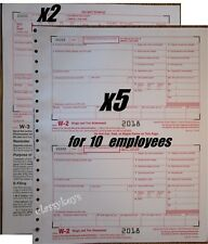 2018 IRS Tax Forms W-2 Wage Stmts CARBONLESS 10 employees + (2) W-3 -->> NO Env