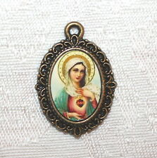 Bronze Medal to add to Rosaries/Bracelets/Zipper Pulls/Vintage Immaculate Heart
