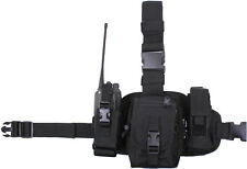 Black MOLLE Drop Leg Emergency Utility Rig with Utility Radio & Mag Pouches