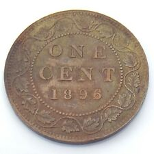 1896 Canada One 1 Cent Copper Large Penny Canadian Circulated Coin G725