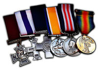 6 Full Size Replica WW1 WW2 Service/War Medals British/Imperial Highest Honours