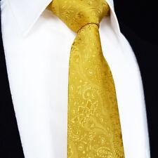 Premium Cravate hommes CHAMPAGNE OR ORANGE Cachemire Soie & FLORAL