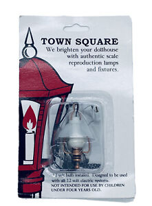 Vintage Town Square Dollhouse Miniature Electric Lantern Lamp 12 volt-1:12 scale
