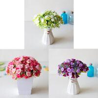 2 Bouquets 42 Head Artifical Rose Silk Flower Bouquet Home Wedding Decor GO9Z
