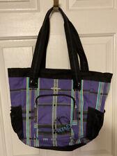 Hurley Juniors Purple Plaid Messenger Bag EUC