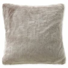 """Waterford Florence Faux Fur Decorative Pillow Size 16"""" x 16"""" Oatmeal"""