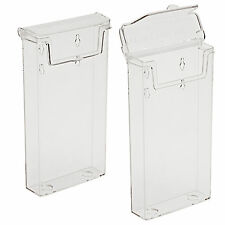 2 x 1/3rd A4 External Outdoor Wall Mount Leaflet Holder Water Resistant BPSOD110
