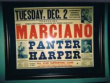 EXTREMELY RARE 1952 Rocky Marciano boxing poster Garth Panter Woodie Harper