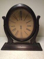 Waltham Antique Wood Frame Swivel Clock Boudoir Dresser Clock Missing Guts