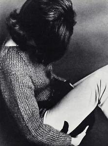 1960s WINGATE PAINE Vintage Female Fashion Woman And Cat Feline Photo Art 11x14
