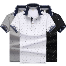 Fashion Men's Shirt Casual Cotton Slim Short Sleeve T-Shirts Formal Tee Tops