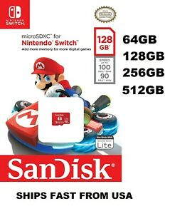 Sandisk Nintendo Switch Micro SD Card 64GB 128GB 256GB 512GB SDSQXAO lot