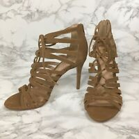 Vince Camuto Zayna Strappy Heeled Sandal in Coyote Size 8.5