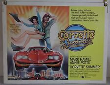CORVETTE SUMMER ROLLED ORIG HALF-SHEET MOVIE POSTER MARK HAMILL ANNIE POTTS 1978