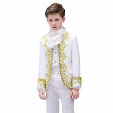 Boys Kids Children Court Hussar Suit Jacket Blazer Pants Embroidered Costume
