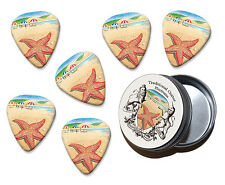 Starfish On The Beach Martin Wiscombe 6 X Guitar Picks In Tin Vintage Retro