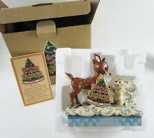 Jim Shore Rudolph Red Nosed Reindeer Polar Bear Babies Enesco Traditions w/ Box
