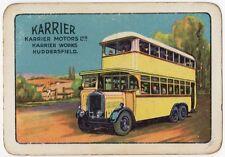 Playing Cards 1 Single Swap Card - Old Wide KARRIER MOTORS Double Decker Bus