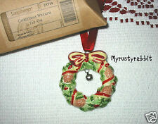 Longaberger 2007 Merry Christmas Wreath Tie-On ~ New