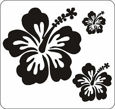 40 HIBISCUS FLOWER STICKERS CAR DECALS WALL GRAPHICS SURF NURSERY