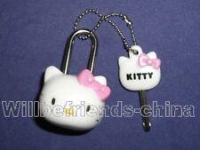 Hello Kitty Head Mini Lock Bag Charm Dangle Pendant Decoration Keychain KeyRing